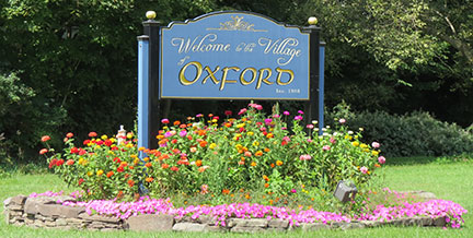 Village of Oxford sign